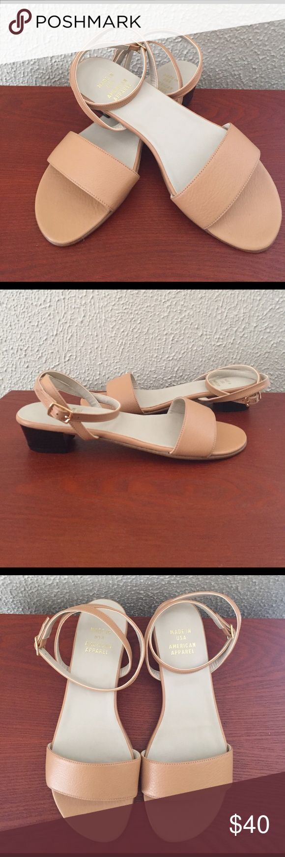 NWOT AMERICAN APPAREL Solid Step-In Sandals American Apparel Solid Step-In Sandals NWOT Brand New! With Box! 1inch block heel Size 6 American Apparel no longer sells shoes and are going out of business. Get these while you can!! American Apparel Shoes Sandals
