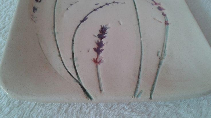 ceramic flower, handmade, glazed, my work. Gliniany-zakatek@blogspot.com