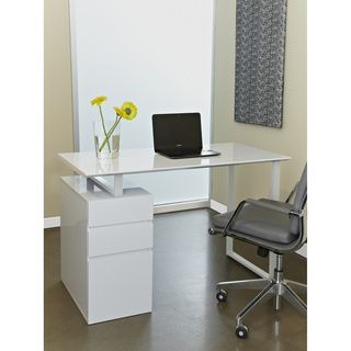 Tribeca White Study Desk with Drawers | Overstock.com Shopping - Great Deals on Jesper Office Desks