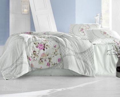 Купить постельное белье RANFORCE PERLITA светло-зеленое 50х70 евро от производителя Altinbasak (Турция)