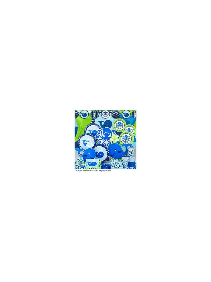 Preppy Blue Ocean Party Ultimate kit Serves 8 Guests | Low Priced Party Accessories