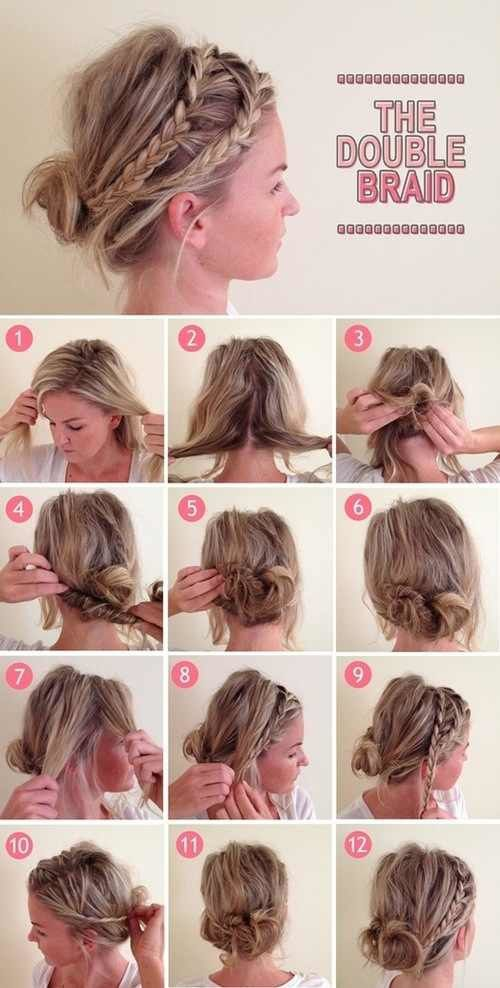 Easy hairstyles - the double braid