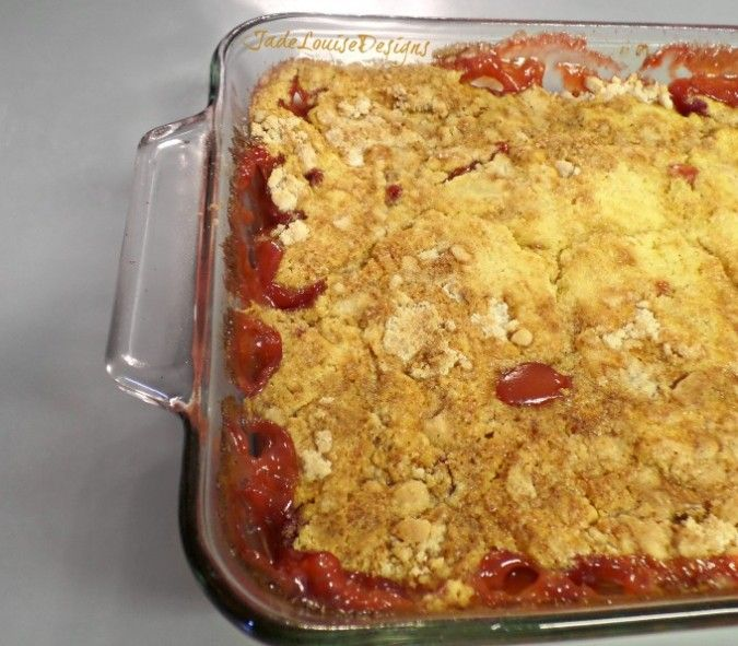 Strawberry Rhubarb Dump Cake Recipe, The Perfect Summer Dessert.