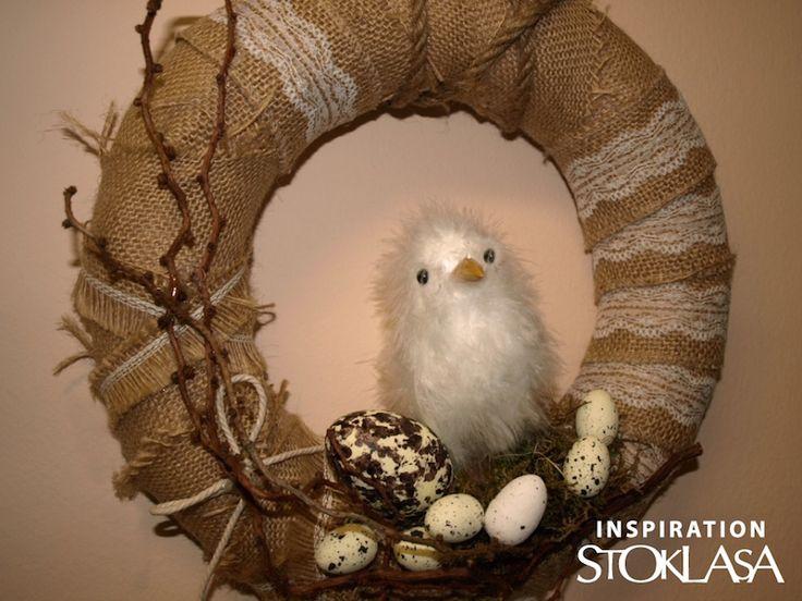 Velikonoční věnec z juty