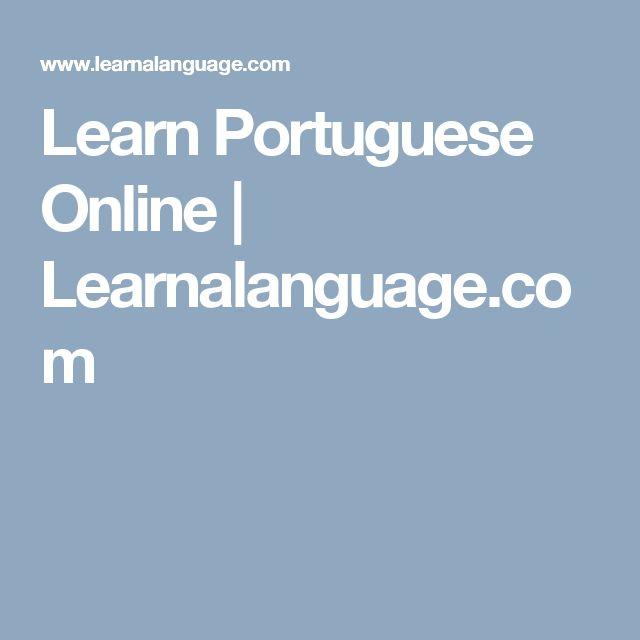 Learn Portuguese Online | Learnalanguage.com