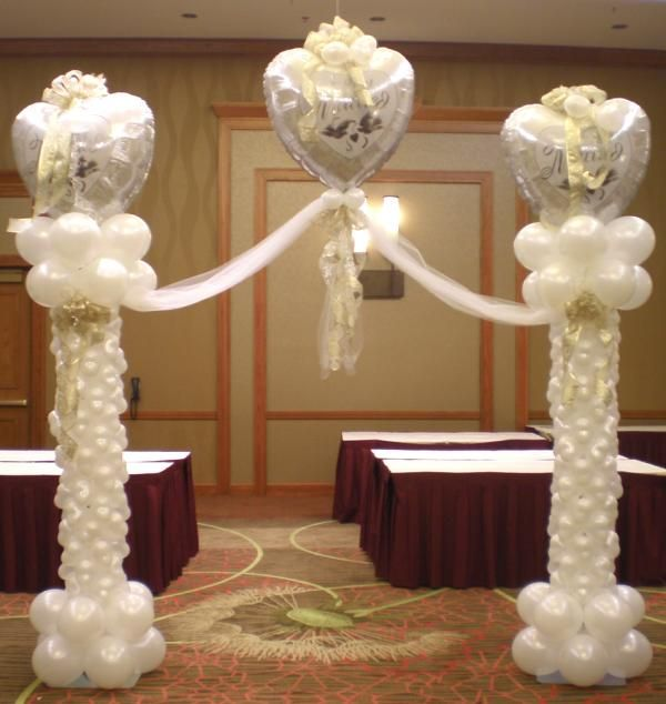 1000 images about balloons for wedding on pinterest for Balloon column decoration