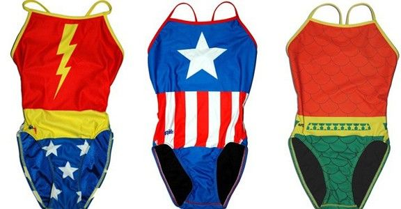 Super hero swim suits for kids! LOVE THESE!