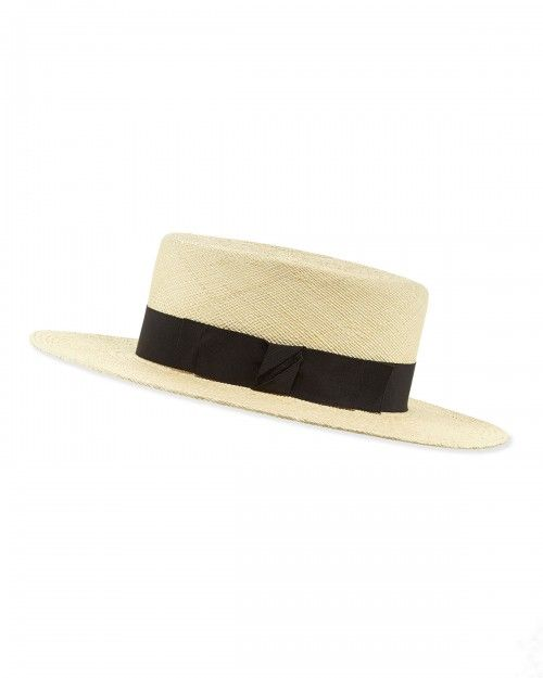 Gladys+Tamez+the+Gloria+Straw+Boater+Hat+Natural+|+Headwear+and+Accessory