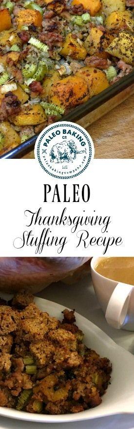 Paleo Thanksgiving stuffing recipe for Pinterest