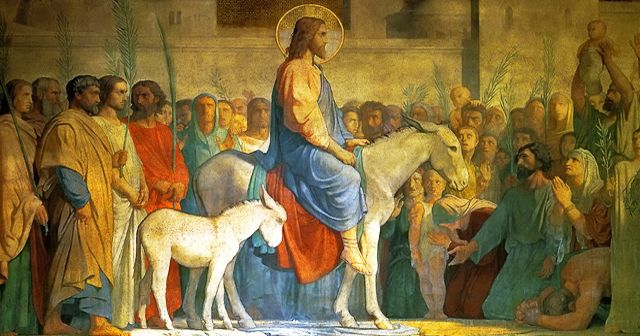 Palm Sunday of the Lord's Passion, the first Sunday of Holy Week within the Lenten Season, commemorates Jesus' triumphal entry into Jerusalem preceding his passion. As he entered, the people of Jerusalem recognized Jesus as their king, saying