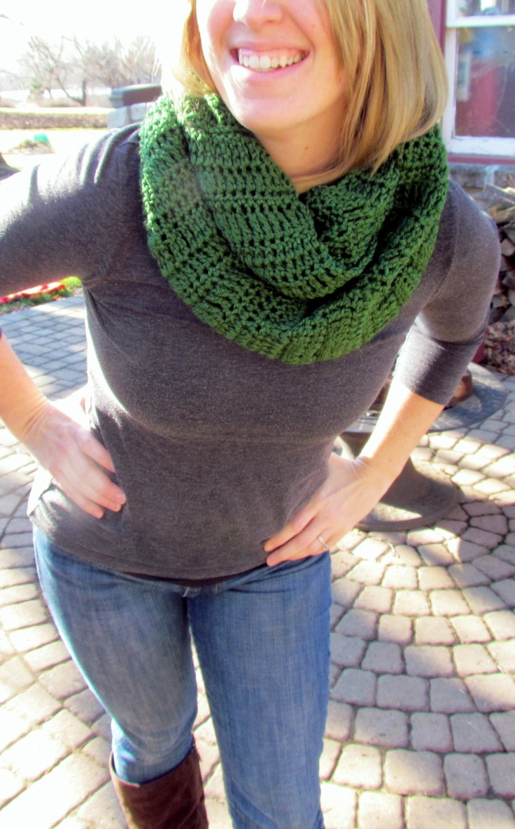Handmade Infinity Scarf. $20.00, via Etsy. @AmyandRicky Eberly, they look awesome!