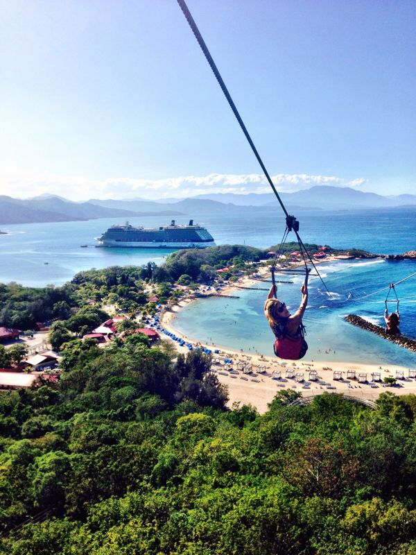 Labadee, Haiti | Zipping down the world's longest zipline over water is just one of the many unique adventures you'll encounter in this private Royal Caribbean destination.