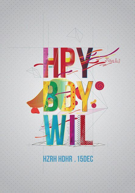 304 best lettering typography images on pinterest typography typography for happy birthday will sciox Gallery