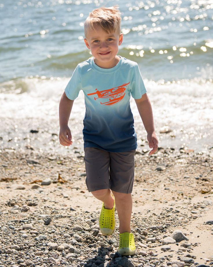 Harbour Graphic Tee and Your Way Shorts | Boys Summer Collection | www.peekaboobeans.com