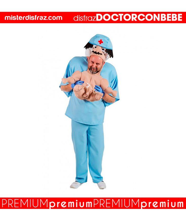 Disfraz de Doctor con Bebé.  ¡Que bebé tan precioso!  Si quieres ser el más original de las Fiestas lo conseguirás con este disfraz tan divertido de Doctor con Bebé para hombre.  #disfraz #disfraces #disfracesoriginales #disfracesdivertidos #disfracescachondos #disfracesgraciosos #disfrazhombre #disfrazdoctorconbebe #doctorconbebe  #carnaval #premium #disfracespremium #premiumoriginales #misterdisfraz