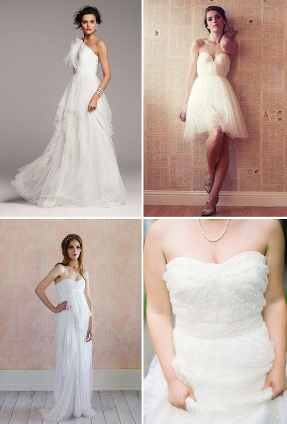 598 best images about lace and dotted swiss on pinterest for Dotted swiss wedding dress