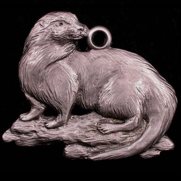 Otter Pewter Ornament