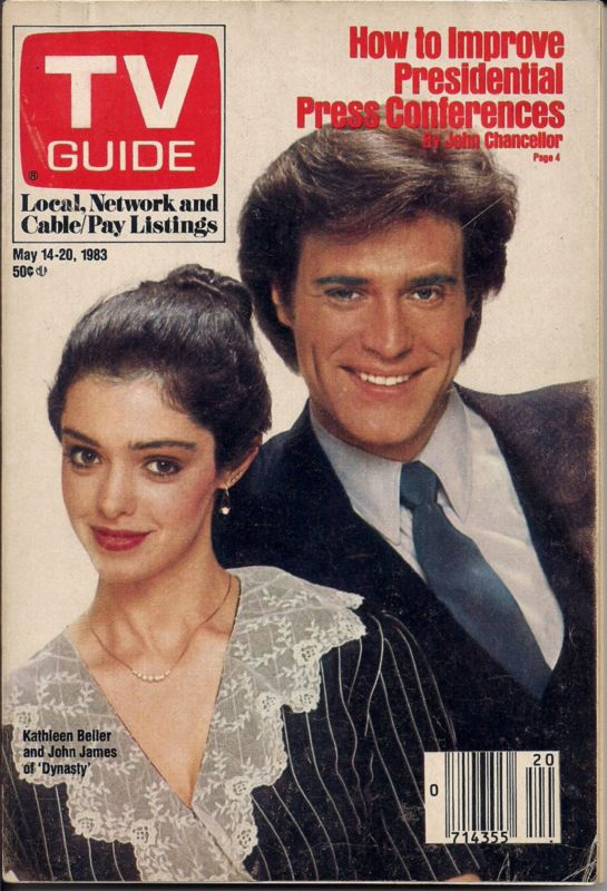 TV Guide, May 14, 1983: Kathleen Beller & John James in Dynasty. I miss seeing this mag in the supermarket.
