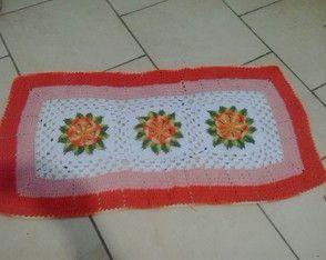tapete com flor do caribe