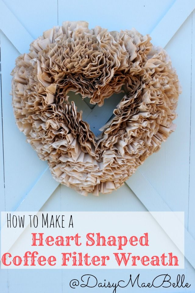 Heart Shaped Coffee Filter Wreath