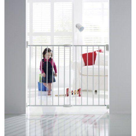 Barrière de sécurité enfant MUNCHKIN, métal,  long. min/max 63.5/102 cm, H68 cm