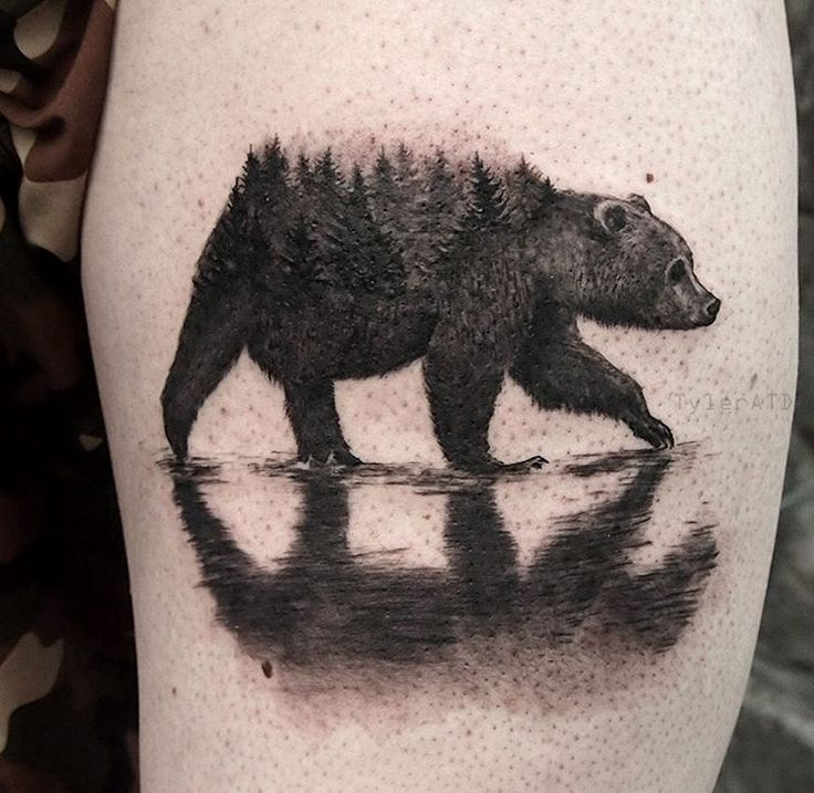 #bear #tattoo Ascent studio, Whistler.