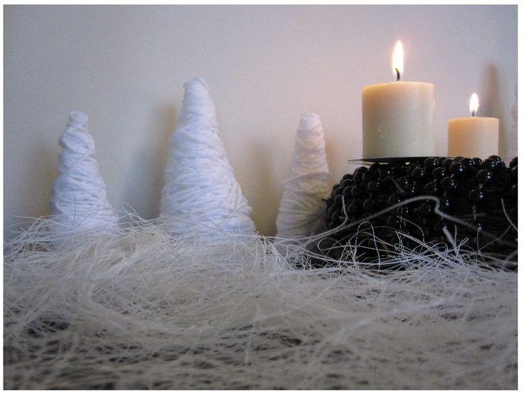 Karácsonyi készülődés: Fenyőfák fonálból   Saját Otthon Projekt