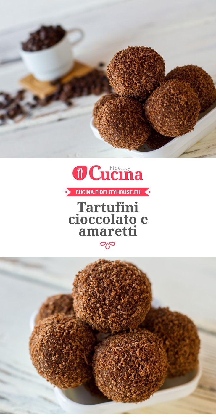 Tartufini #cioccolato e #amaretti