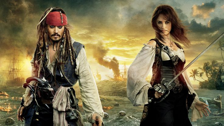 Movie Pirates Of The Caribbean: On Stranger Tides  Jack Sparrow Johnny Depp Angelica Teach Penelope Cruz Wallpaper