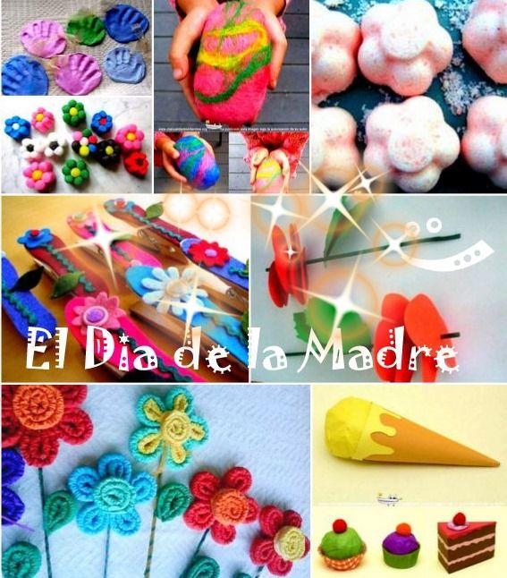 Especial Dia de la Madre. Recopilatorio de idea de Manualiades para el Dia de la MAdre: http://www.manualidadesinfantiles.org/especial-dia-de-la-madre