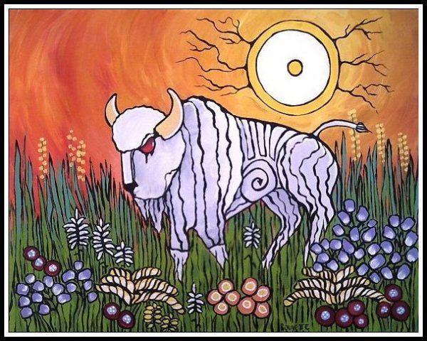 Ayla Bouvette - Metis Art - White Buffalo Sun Spirit