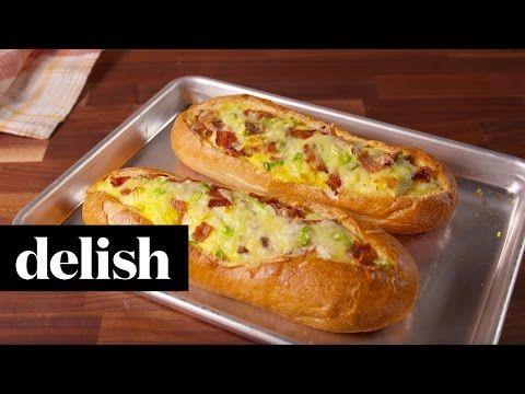 Breakfast Stuffed Bread | Delish - YouTube