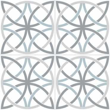 Напольная плитка Chic Bosham White матовая, с орнаментом/рисунком от Dual Gres (Испания)