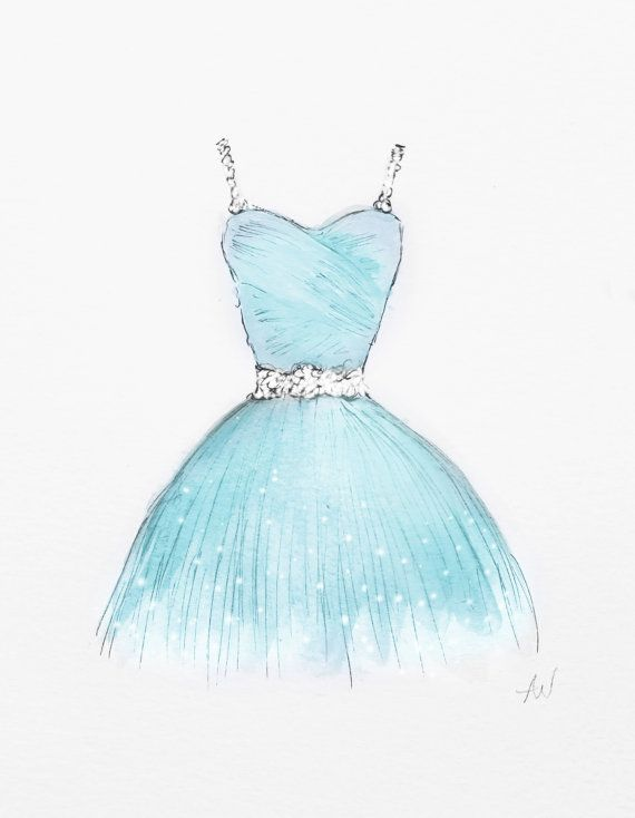 Such a really unique idea for the teen girl in your life get a custom digital painting of her prom dress to commemorate such a special day