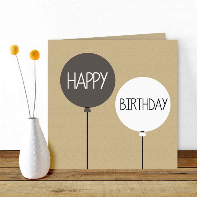 THE perfect #birthdaycard for #men, cool, simple but stil very stylish!