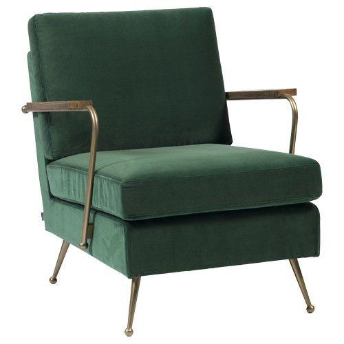 Verwonderlijk fauteuil-velvet-groen   Huisdingen - Fauteuil velvet, Fauteuil en SA-13