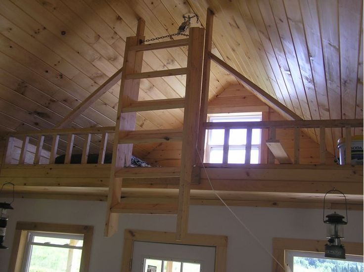 Loft And Folding Stairs In 2019 Cabin Loft Loft Stairs
