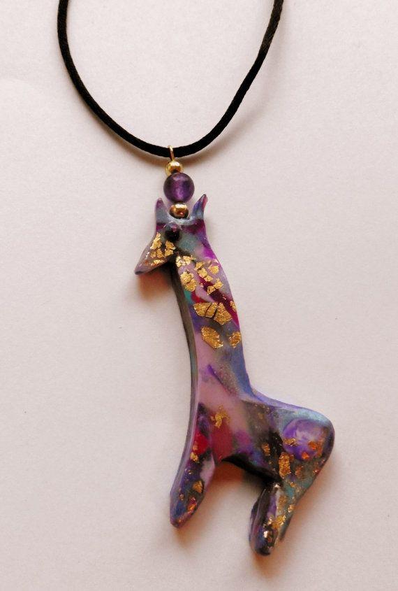 Giraffe Pendant Giraffe Necklace Giraffe Jewelry African