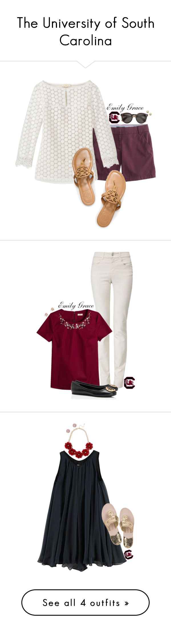"""The University of South Carolina"" by emilybelle98x ❤ liked on Polyvore"