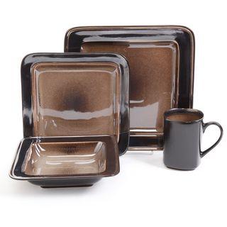 Gibson Elite Astro Galleria 16-piece Brown Dinnerware Set | Overstock.com Shopping - The Best Deals on Casual Dinnerware