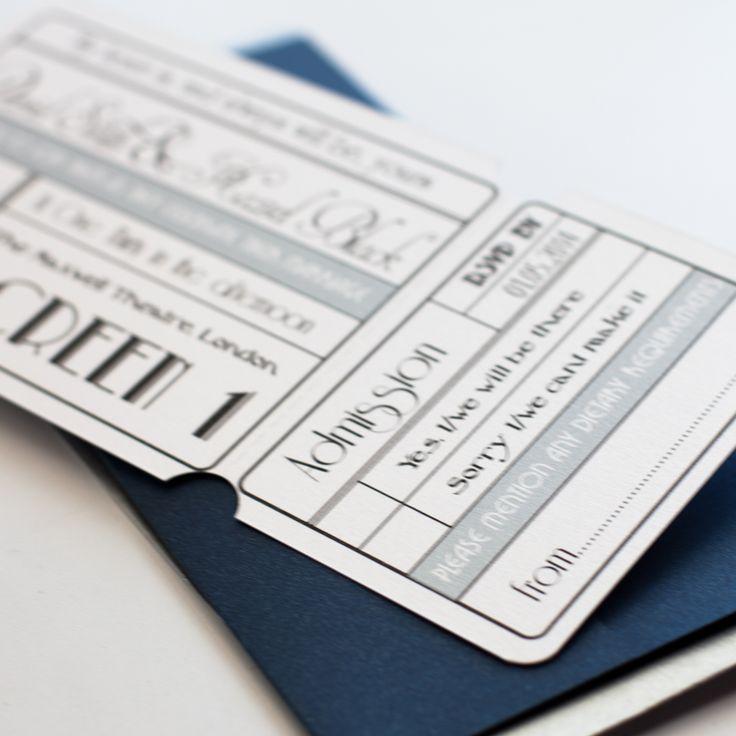 movie ticket stub wedding invitation%0A Unique Cinema Ticket Wedding Invitation with Wallet  Vintage Wedding  Stationery Scotland VOWS Award Nominee