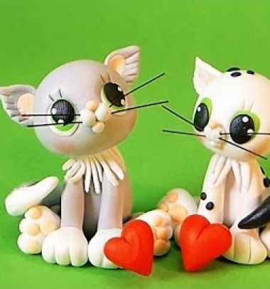 Cute cat couple - polymer clay tutorial // Aranyos ülő cica - gyurma figura lépésről-lépésre // Mindy - craft tutorial collection // #crafts #DIY #craftTutorial #tutorial #Clay #ClayTutorials #ClayCrafts #Gyurmázás