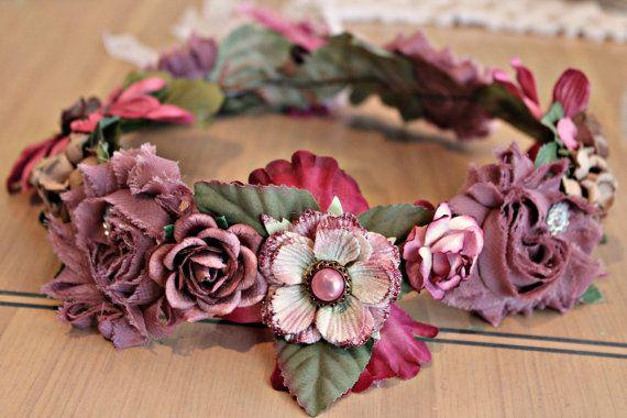 Items similar to Handmade headband,hair wreath, bridal Tiera,wedding,Girls accessories, Adult headband, photo prop,flower girl,bridal, keepsake on Etsy