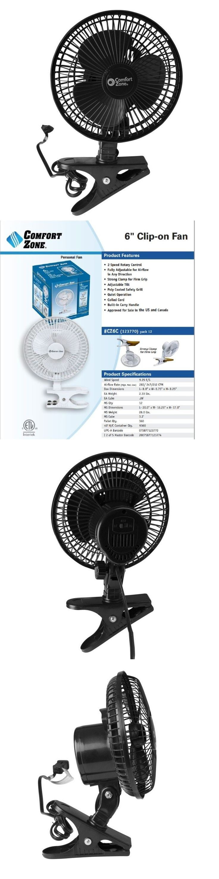 Portable Fans 20612: Clip On Mini Electric Cooling Fan Portable Oscillating Small Table Desk 6 Inch -> BUY IT NOW ONLY: $30.02 on eBay!