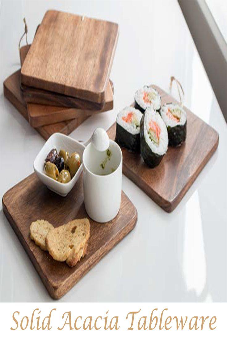 Solid Acacia Tableware Mini boards set.