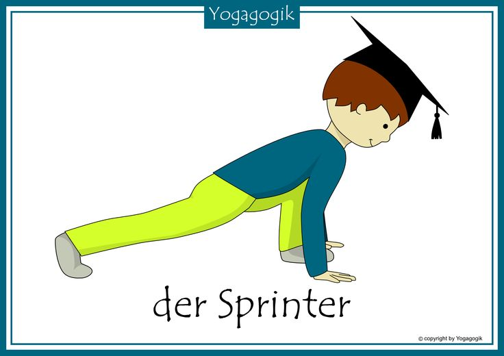 Kinderyoga Flashcards Sprinter