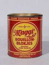 Maggi bouillonblokje.