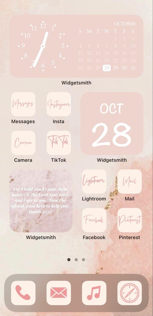 Widget Home Screen Iphone Wallpaper App Download Cute Wallpapers Homescreen