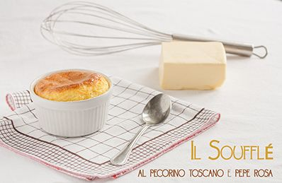 Soufflé con pecorino toscano e pepe rosa | Tuscan cheese soufflé with rose pepper http://www.theblackfig.com/2014/02/souffle-al-pecorino-toscano-e-pepe-rosa.html