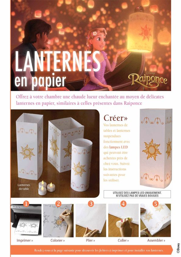 Coloriage Activité Disney Raiponce Lampions - Hugolescargot.com